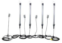 Four 14 Watt LED Work Lamps and Four Tool Taps