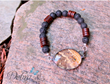 Men's Owl Butterfly Bracelet with Lava and Wood Beads from Debra's Divine Designs.