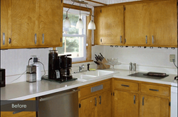 Kitchen cabinet refacing case study