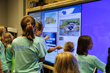 Project Scientist girls use T1V Touchscreens