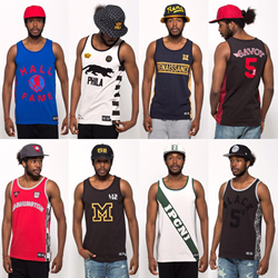 Jerseys from the inaugural Black Fives Collection by '47.