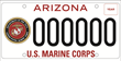 U.S. Marine Corps Arizona Specialty License Plate Officially Available for Purchase