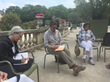 Writers of the 2015 Left Bank Writers Retreat enjoyed honing their craft in Paris's famed Luxembourg Gardens.