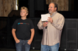 Get Me Founder, Michael Gaubert (pictured on right), and his son, Gannon (pictured left), during the VIP presentation at the August 20th Launch Event in Dallas, Texas