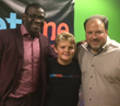 "Get Me Founder, Michael Gaubert (pictured on right) and his son, with their friend Michael Irvin (pictured left) at the Get Me ""app"" Launch Event in Dallas, Texas"