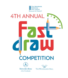 The 4th Annual Because Art Matters Fast Draw Competition is open to local 7th and 8th graders and will be held at The Woodlands Mall Sept. 12.