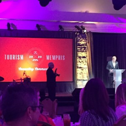 Kevin Kane speaking at the Memphis CVB Annual Luncheon
