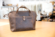 Cozmo 2.0 leather briefcase—Compact size, grizzly leather