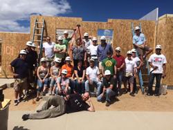 Zunesis Team at Habitat's build site