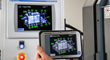 A large color HMI screen and a ruggedized, portable tablet allow control from any point around the machine