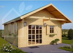new residential log cabin