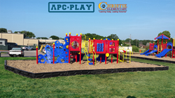 Christie Elementary's new school playground equipment by APCPLAY