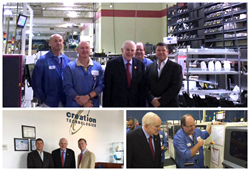 Congressman Johnson Visits Creation Technologies at Award-Winning Electronics Manufacturing Facility in Dallas, Texas