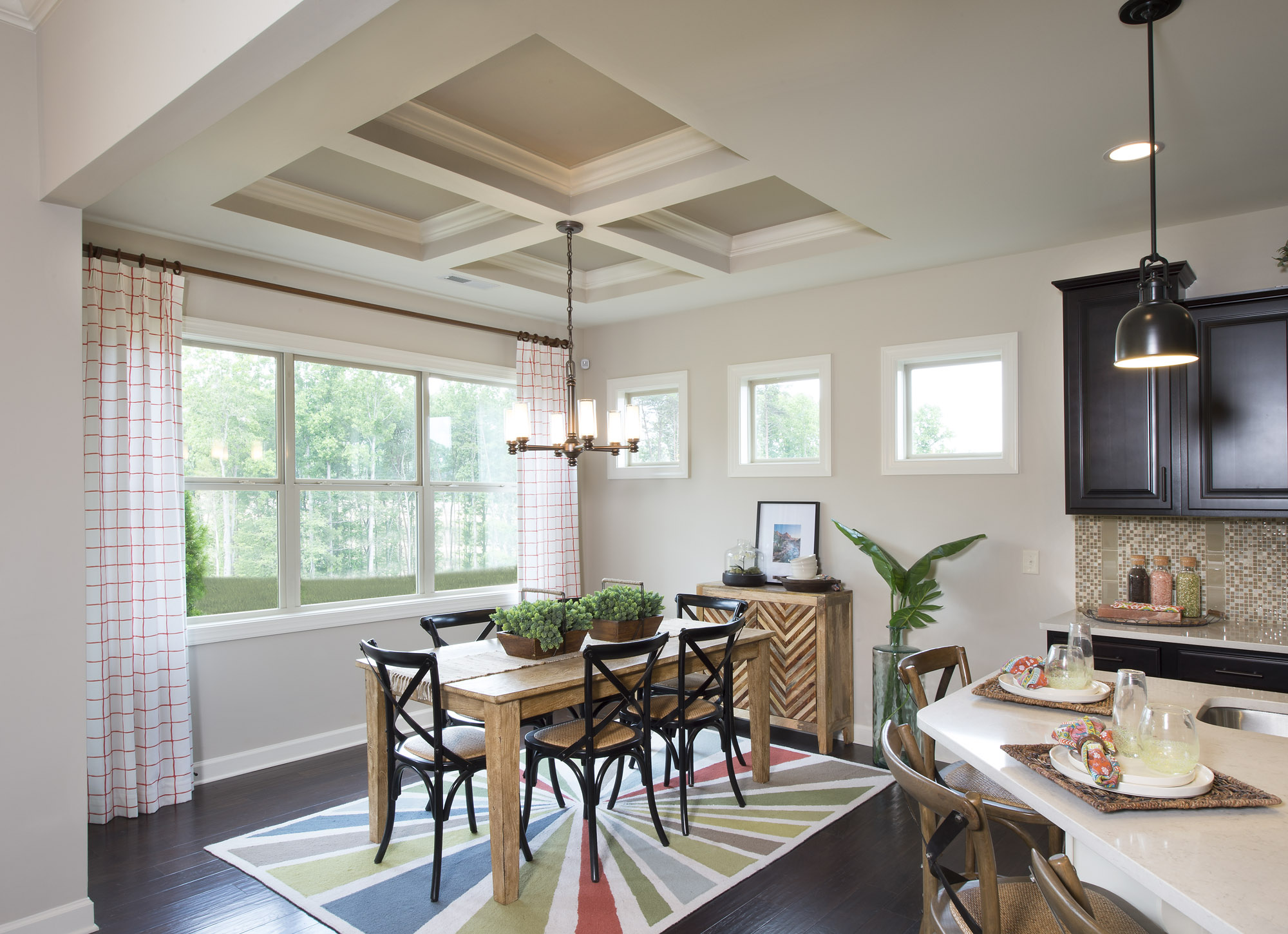 ... Coffered Ceiling Breakfast Room   Del Mar By Shea Homes ... Part 64