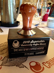 Longevity Award from Crimson Cup Coffee & Tea