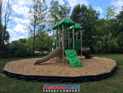 Village Park's new playground from American Parks Company