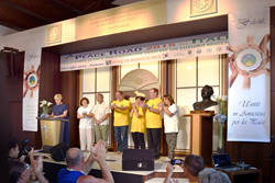 Organizers of Padova peace march acknowledged at a luncheon at the Church of Scientology Padova.
