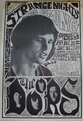 Original 1967 Jim Morrison and the Doors Shrine Auditorium Concert Posters