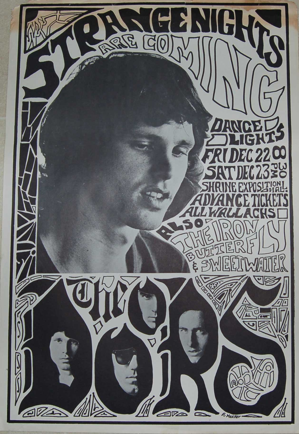 Avid Collector Announces His Search for Original 1967 Jim Morrison and the Doors Shrine Auditorium Concert Posters & Avid Collector Announces His Search for Original 1967 Jim Morrison ...