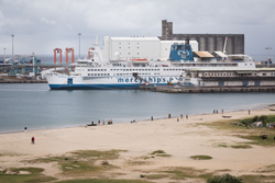 The world's largest civilian hospital ship, the Africa Mercy, has five state-of-the-art operating rooms and ward bed space for 82 patients.