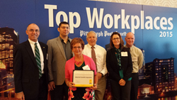 Industrial Scientific employees attend the Pittsburgh Post-Gazette's Top Workplaces award ceremony.
