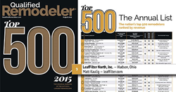 Leaf Filter recognized as a top remodeler