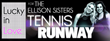Lucky In Love for The Ellison Sisters Hangtag for their Athleisure and Tennis Fashion Lines