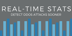 Real-Time Statistics Detect DDoS Sooner