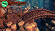 Snarf crosses a bridge in town in SnarfQuest Tales