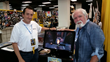 James Simpson, President of Cellbloc Studios (left) and Larry Elmore, SnarfQuest creator (right) promoting SnarfQuest Tales at a convention