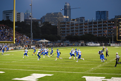 2015 Taco Shack Bowl at Austin ISD's House Park Stadium played on Hellas Construction's Matrix® Turf with Helix Technology