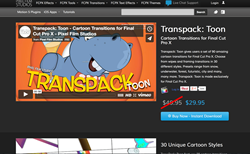 Pixel Film Studios Releases TransPack Toon, a New FCPX Transition