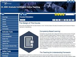 Screen shot of online class.