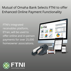 Mutual of Omaha Bank - FTNI - Online Payments - Integrated Receivables - Announcement