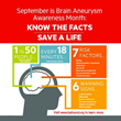 September Celebrated as Brain Aneurysm Awareness Month
