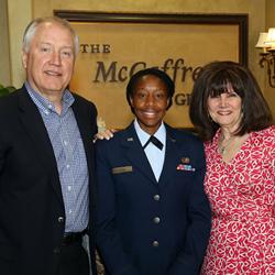 Bob McCaffrey Captain Jamie Davis USAF and Karen McCaffrey