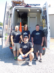 Vehicle Build Center Team with 100th Mobile Sewer Inspection Unit