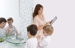 Children like brushing their teeth with Kolibree.