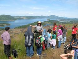 Bureau of Reclamation Park Ranger teaches students at New Melones Lake.