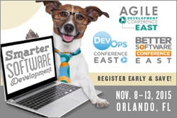 The Collocated Agile Development, Better Software & DevOps Conference East will be held from November 8–13 in Orlando, FL