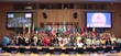 Bearing the flags of their countries, youth delegates from 33 nations are joined by UN staff, NGOs and other dignitaries at the 12th annual Human Rights Summit August 27-29, 2015, at the United Nations in New York.