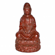 "Lot 253, a rare ""bodiless"", lacquered-linen Guanyin"