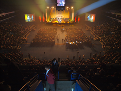 David Hathaway's Festival of Life held at the Siemens Arena, Vilnius, Lithuania