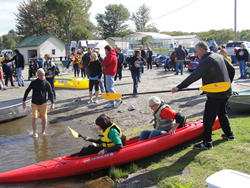 Launching a boat at the 2014 Adventure Team Challenge New York.