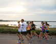 Pensacola Marathon overlooking Pensacola Bay.