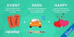Latest integration simplifies a consumer's process of purchasing tickets and event parking, an in-app experience that is now available through Button's matchup of Parking Panda and SquadUP.