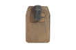 iPhone Orbit Case—grizzly leather; backside clip