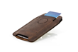 iPhone Orbit Case—chocolate leather; card pocket