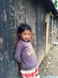 A young girl after the devastating earthquakes in Nepal