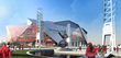 World-class design: The new Mercedes-Benz Stadium combines stunning architectural design with comprehensive environmental features (artist's rendering of completed stadium).